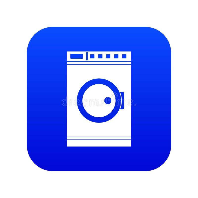 Pralki ikony cyfrowy błękit ilustracji