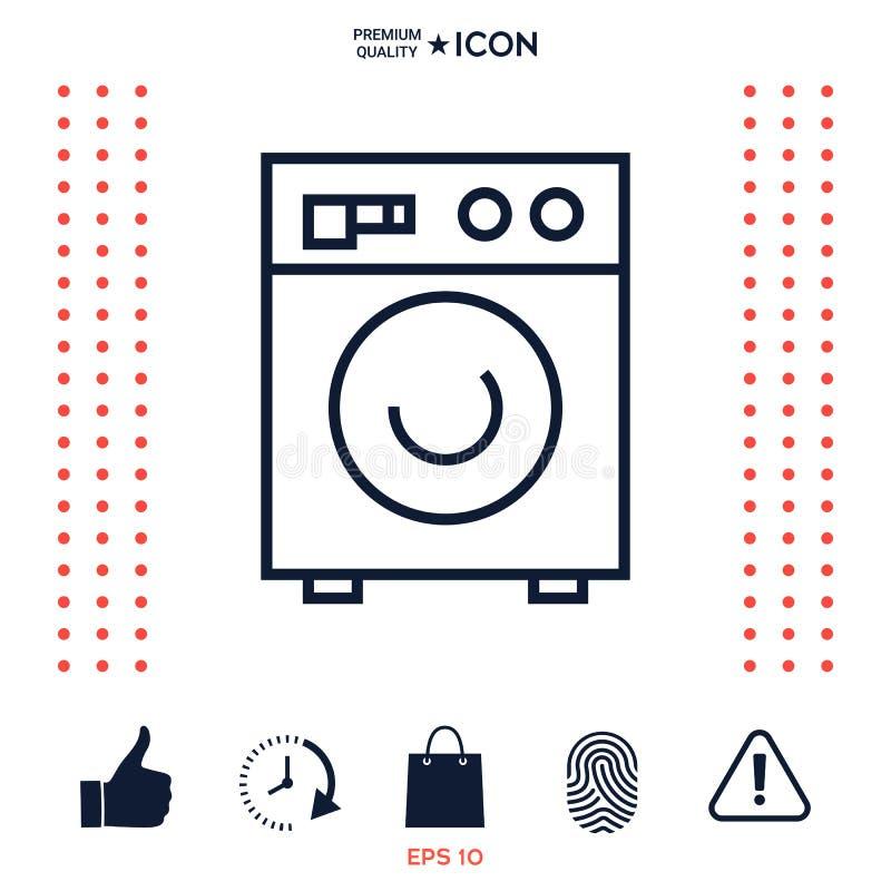 Pralki liniowa ikona ilustracja wektor