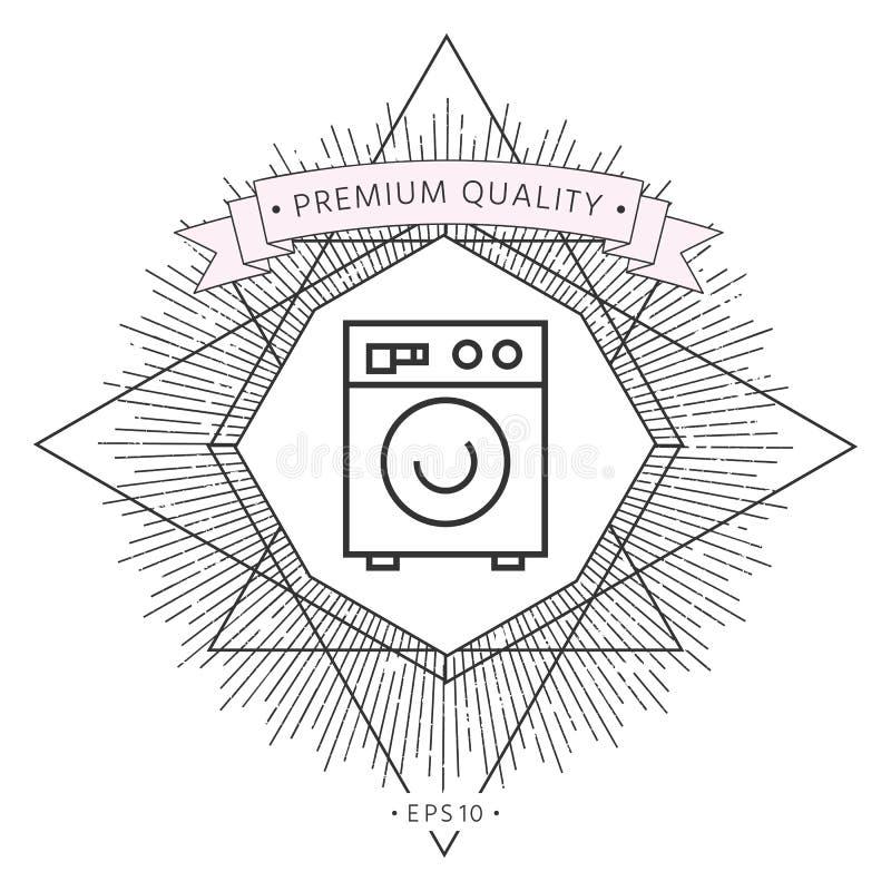 Pralki liniowa ikona ilustracji