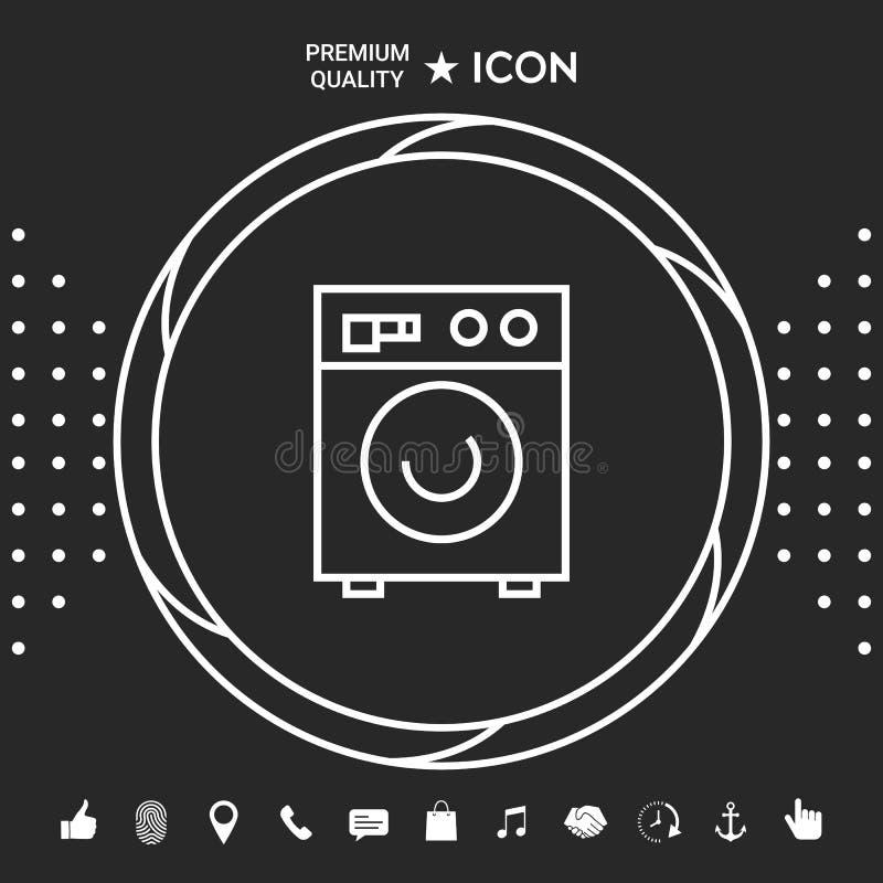 Pralki liniowa ikona Graficzni elementy dla twój designt ilustracji