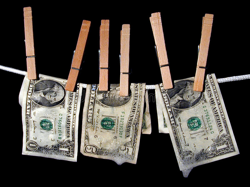 Pralniczy Pieniądze Obraz Royalty Free