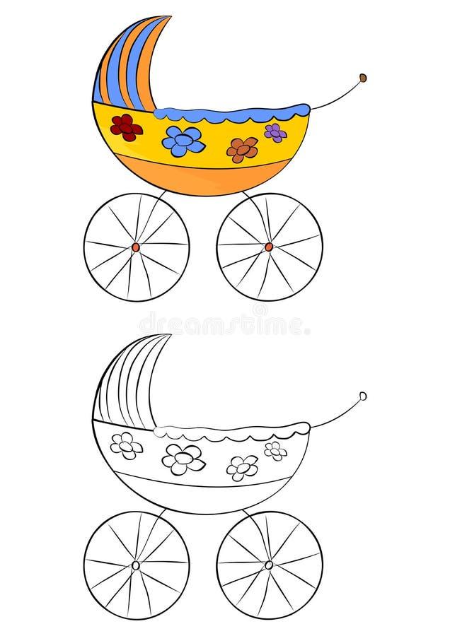 Pram royalty free illustration