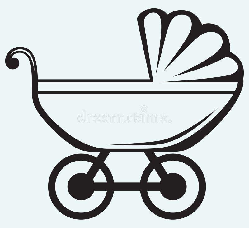 Pram. Transporte de bebê ilustração royalty free