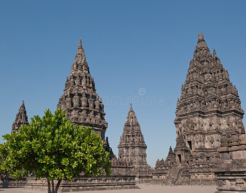 Prambanan寺庙, Java,印度尼西亚 库存图片