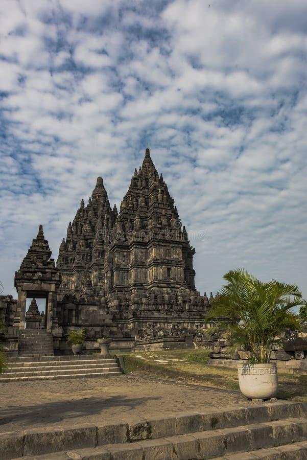 Prambanan świątyni ogród zdjęcie stock