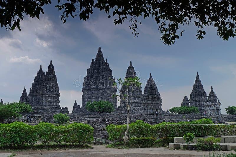 Prambanan świątynia w ramie obrazy stock