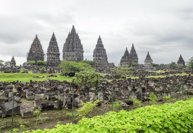 Prambanan en Java imágenes de archivo libres de regalías