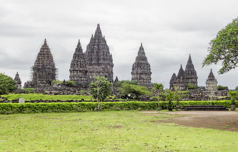 Prambanan en Java fotos de archivo