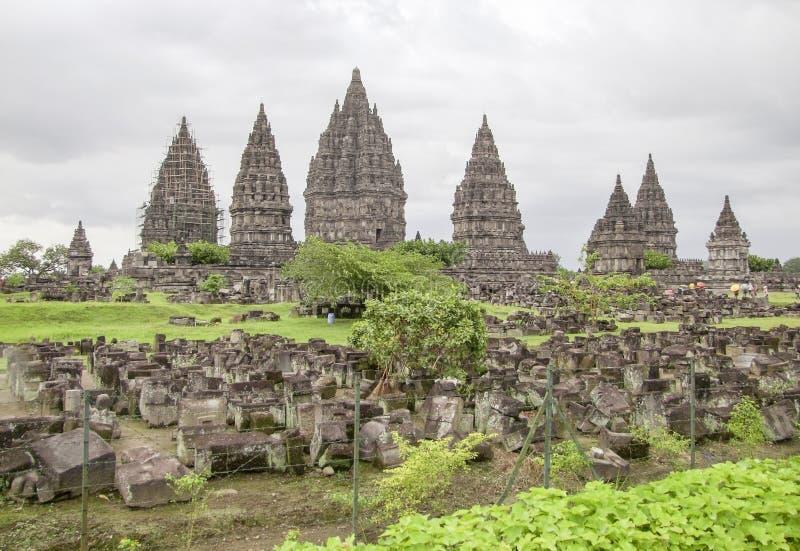 Prambanan en Java fotos de archivo libres de regalías