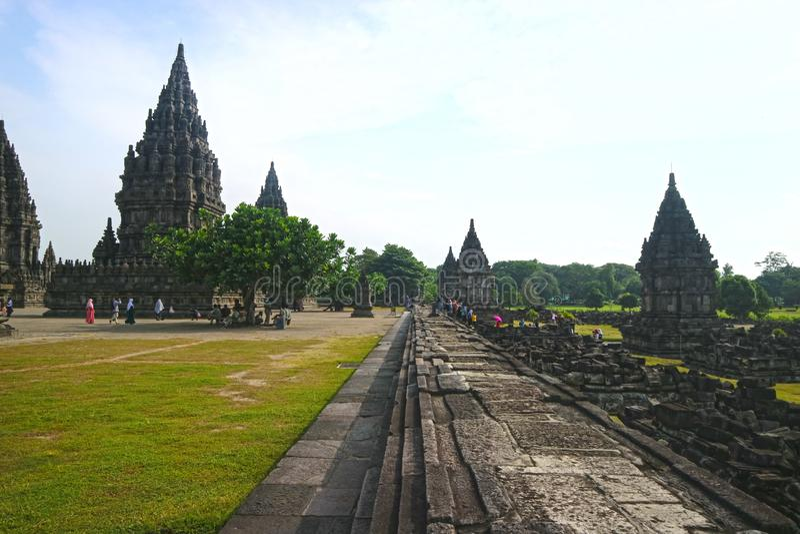 Prambanan Hindoese Tempel, Bokoharjo, Sleman-Regentaat, Speciaal Gebied van Yogyakarta, Indonesi? stock afbeelding