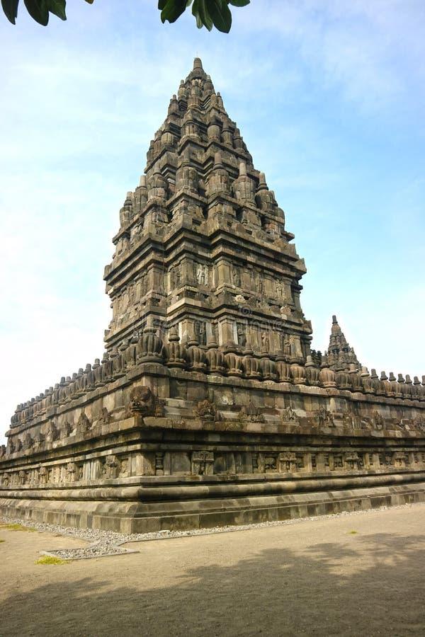 Prambanan Hindoese Tempel, Bokoharjo, Sleman-Regentaat, Speciaal Gebied van Yogyakarta, Indonesi? royalty-vrije stock afbeelding