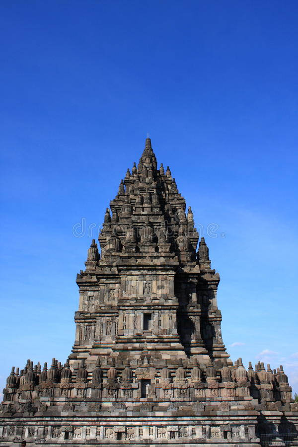 Prambanan Hindu Temple. Hindu temple Prambanan. Indonesia, Central Java, Yogyakarta Prambanan is the ninth century Hindu temple compound in Central Java stock photos