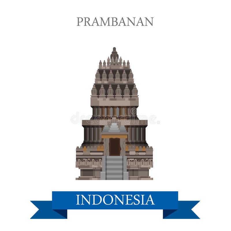 Download Prambanan Hindu Temple In Indonesia Vector
