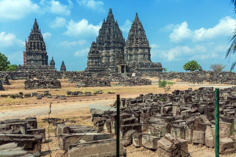 Prambanan Hindu Temple, Yogyakarta, Java stock photos