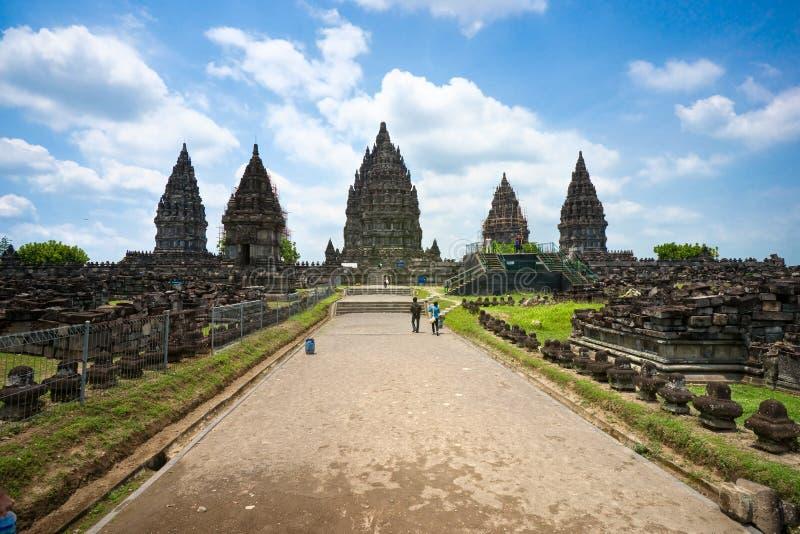 Prambanan Java, Indonesia. fotografie stock libere da diritti