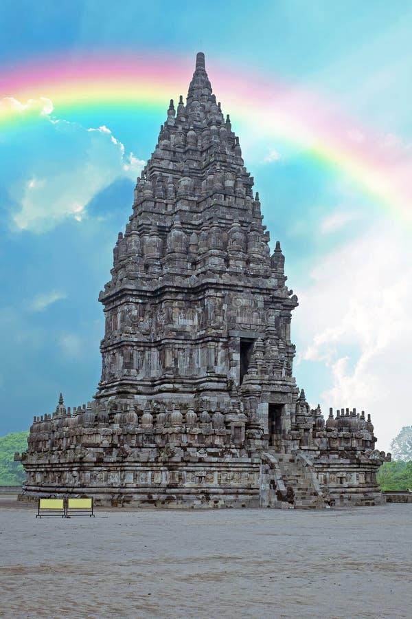 Prambanan o Candi Rara Jonggrang es un templo hindú en Java Indonesia imagenes de archivo