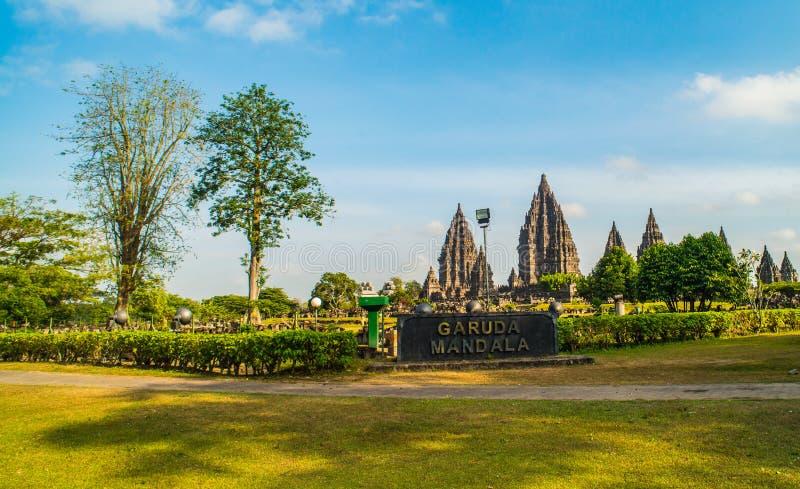 Prambanan oder Candi Rara Jonggrang ist ein Mittel des hindischen Tempels in Java, Indonesien, eingeweiht dem Trimurti: der Schöp stockfoto