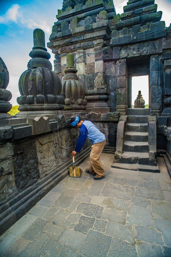 Prambanan oder Candi Rara Jonggrang ist ein Mittel des hindischen Tempels in Java, Indonesien, eingeweiht dem Trimurti: der Schöp lizenzfreie stockbilder