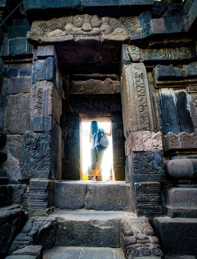 Prambanan oder Candi Rara Jonggrang ist ein Mittel des hindischen Tempels in Java, Indonesien, eingeweiht dem Trimurti: der Schöp stockfotos