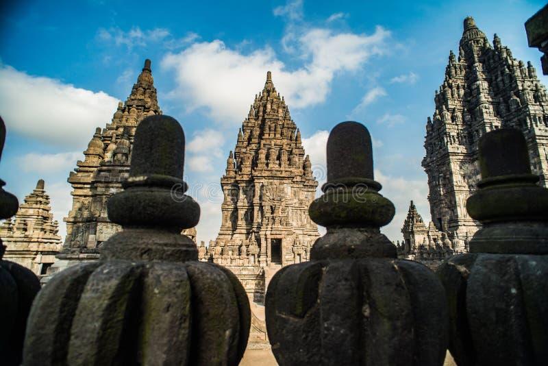 Prambanan ou Candi Rara Jonggrang est un composé de temple hindou dans Java, Indonésie, consacrée au Trimurti : le créateur Brahm image stock