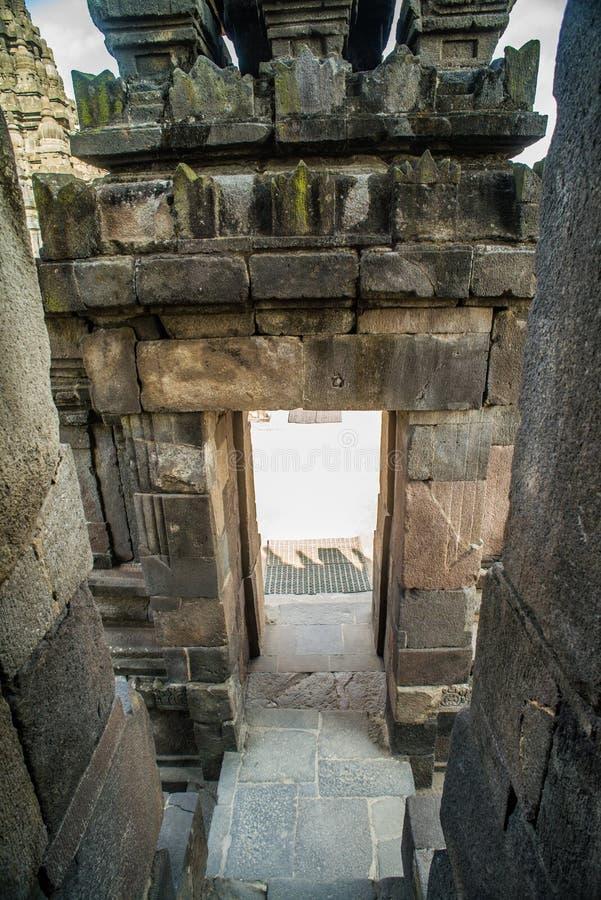 Prambanan Rara Jonggrang lub Candi jesteśmy Hinduskiej świątyni mieszanką w Jawa, Indonezja, dedykujący Trimurti: twórca Brahma, obrazy royalty free