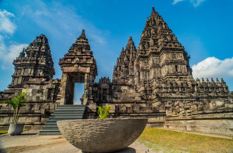 Prambanan Rara Jonggrang lub Candi jesteśmy Hinduskiej świątyni mieszanką w Jawa, Indonezja, dedykujący Trimurti: twórca Brahma, obraz stock