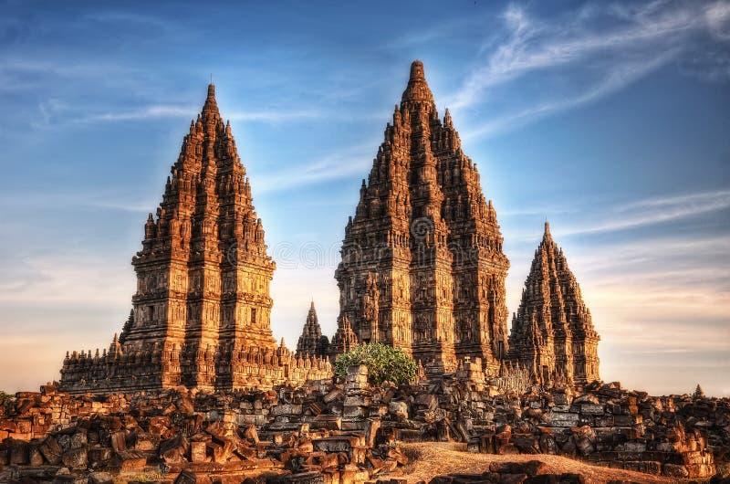 prambanan tempel fotografering för bildbyråer