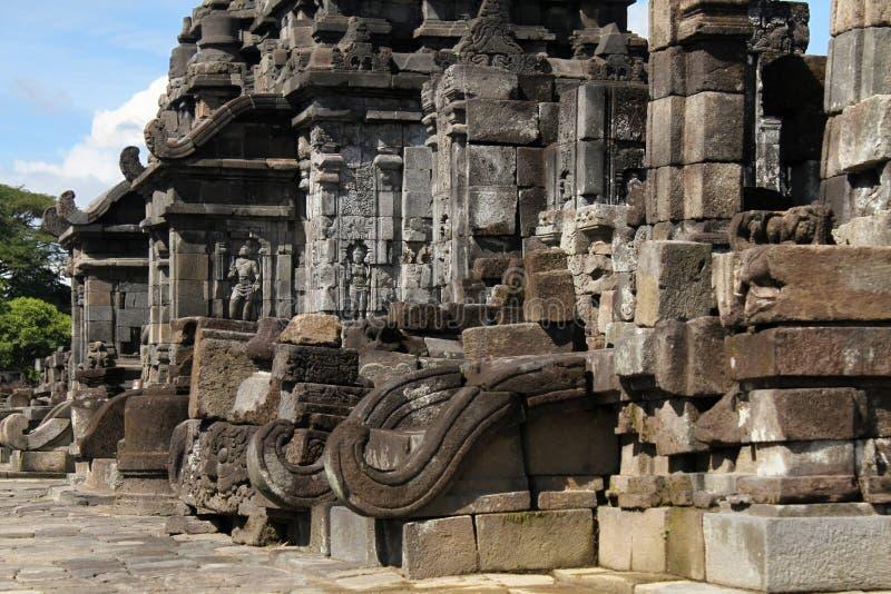 Prambanan tempel nära Yogyakarta royaltyfria bilder