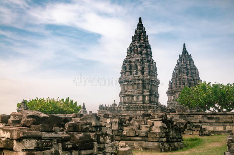Prambanan-Tempel, oder Rara Jonggrang, am 26. Dezember 2019 in Yogyakarta, Indonesien stockfotos