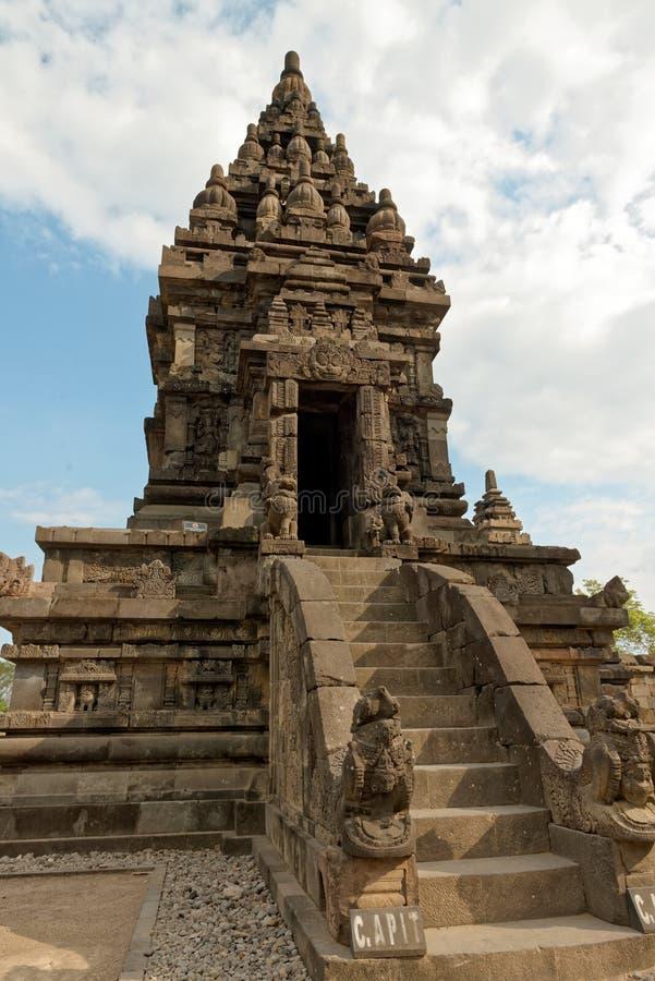 Prambanan Tempelmittel lizenzfreies stockbild