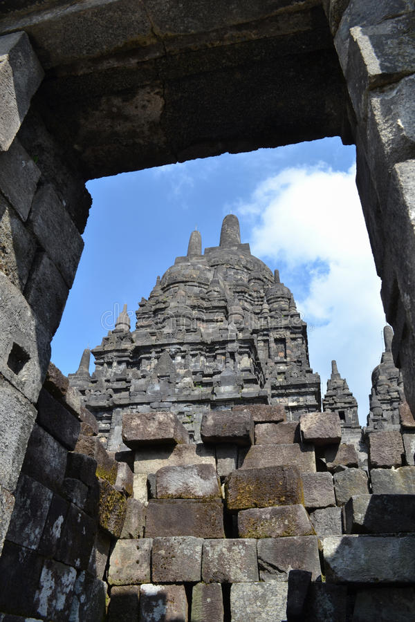Prambanan Temple. The Prambanan temple is the largest Hindu temple of ancient Java, and the first building was completed in the mid-9th century stock images