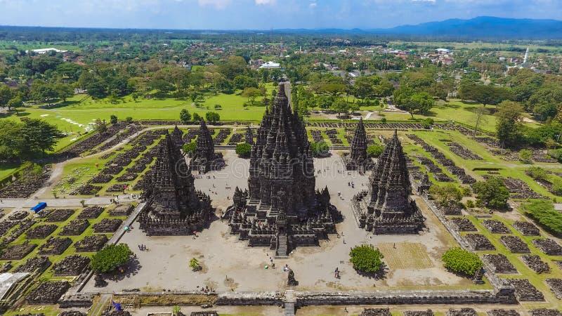 Prambanan temple at the morning. One of heritage building in Yogyakarta, Indonesia. Prambanan temple had a magical story when it. DCIM100MEDIADJI_0059.JPG stock image