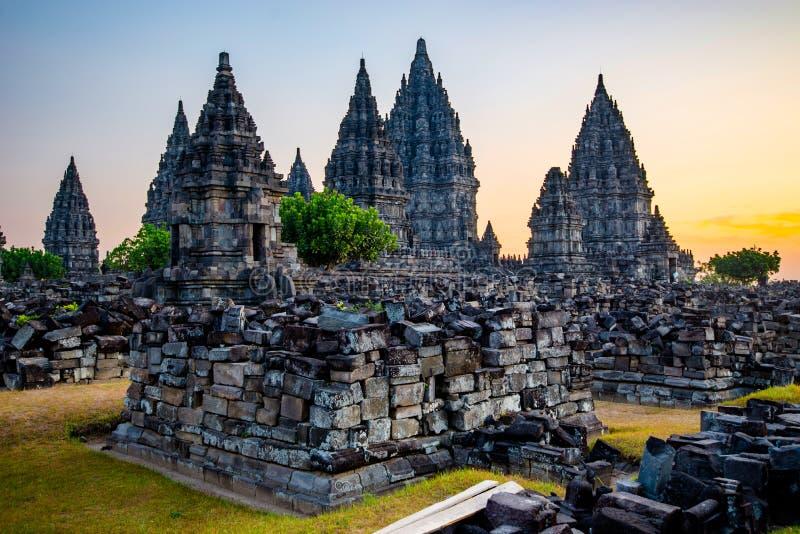 Prambanan temple near Yogyakarta on Java - Indonesia stock photography