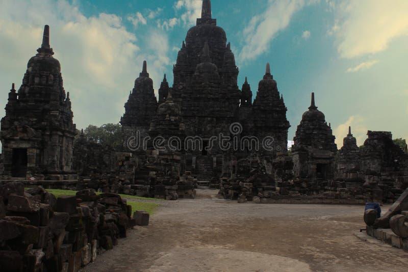 Prambanan Temple or Roro Jonggrang Temple in Indonesia royalty free stock photos