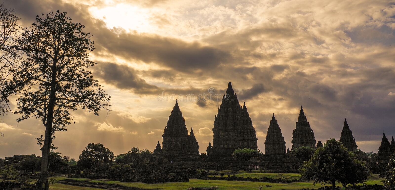 Prambanan, Yogyakarta, Java, Indonesië stock fotografie
