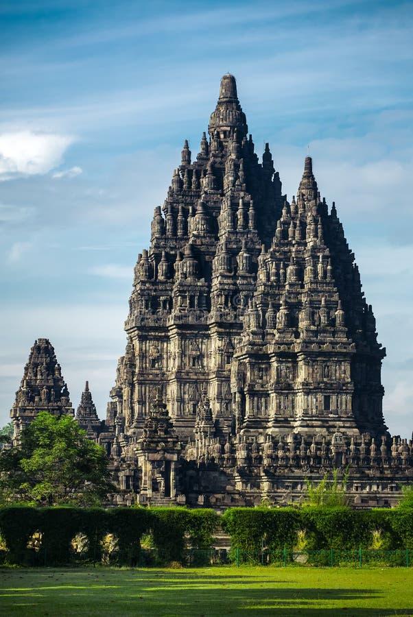 Prambanantempel dichtbij Yogyakarta, het eiland van Java, Indonesië royalty-vrije stock afbeelding