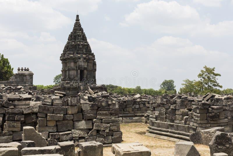 Prambanantempel dichtbij Yogyakarta op het eiland van Java, Indonesië stock fotografie