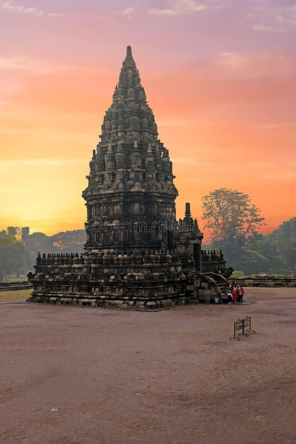 Prambanantempel dichtbij Yogyakarta op het eiland van Java, Indonesië stock afbeelding