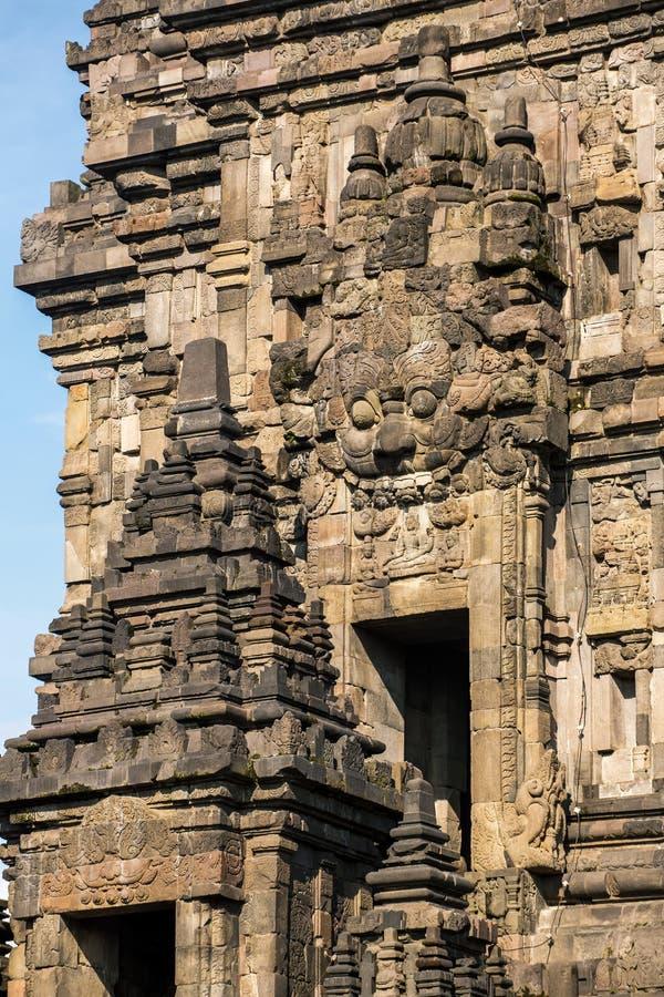 Prambanantempel dichtbij Yogyakarta op Java, Indonesië stock foto