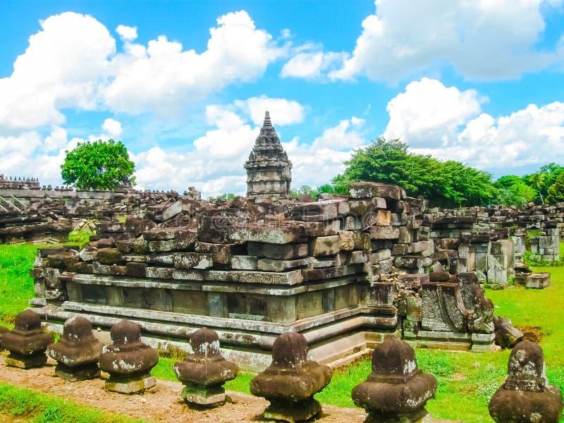 Prambanantempel dichtbij Yogyakarta op Java, Indonesië royalty-vrije stock fotografie