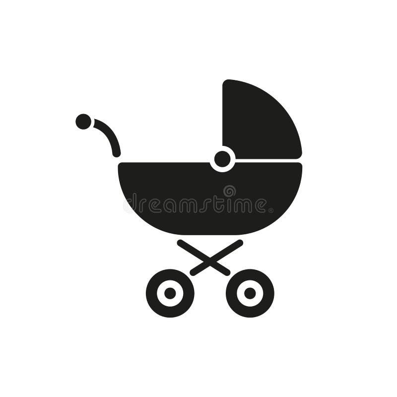 Pramikone Buggyvektordesign Kinderwagensymbol web graphik jpg ai app zeichen nachricht flach bild zeichen lizenzfreie abbildung