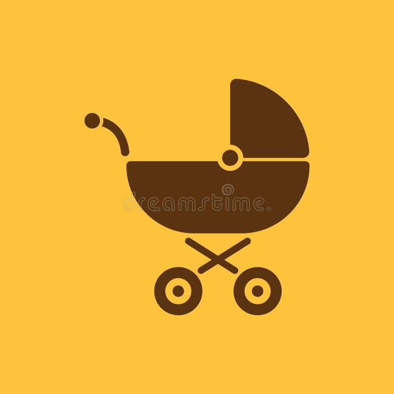 Pramikone Buggyvektordesign Kinderwagensymbol web graphik jpg ai app zeichen nachricht flach bild zeichen vektor abbildung