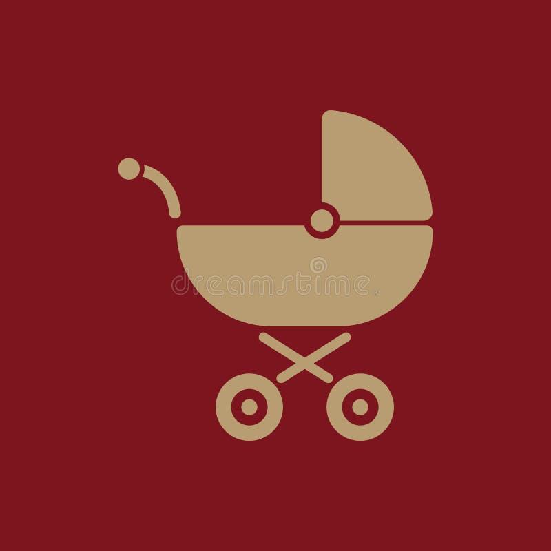 Pramikone Buggyvektordesign Kinderwagensymbol web graphik jpg ai app zeichen nachricht flach bild zeichen stock abbildung