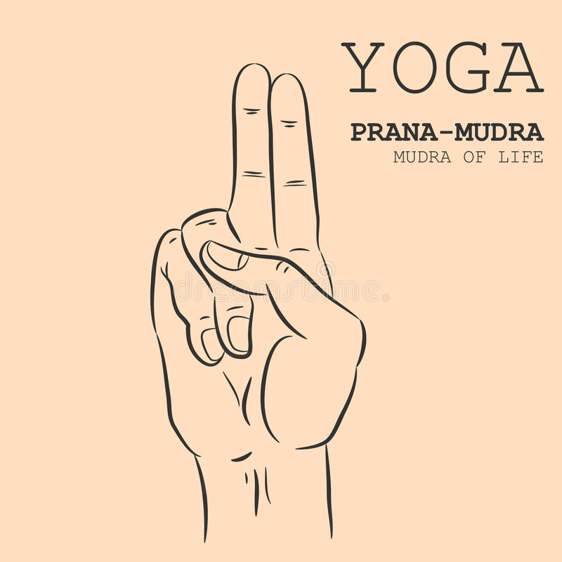Prana-Mudra stock illustratie