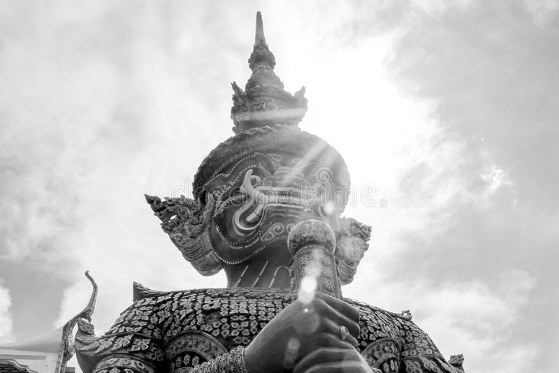Pranakorntempel in Thailand stock foto's