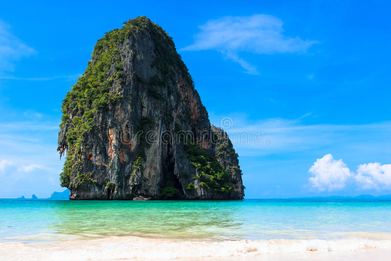 Pranang strand, Krabi, Thailand. royaltyfria bilder