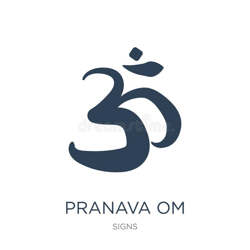 Pranava om icon in trendy design style. pranava om icon isolated on white background. pranava om vector icon simple and modern. Flat symbol for web site, mobile royalty free illustration