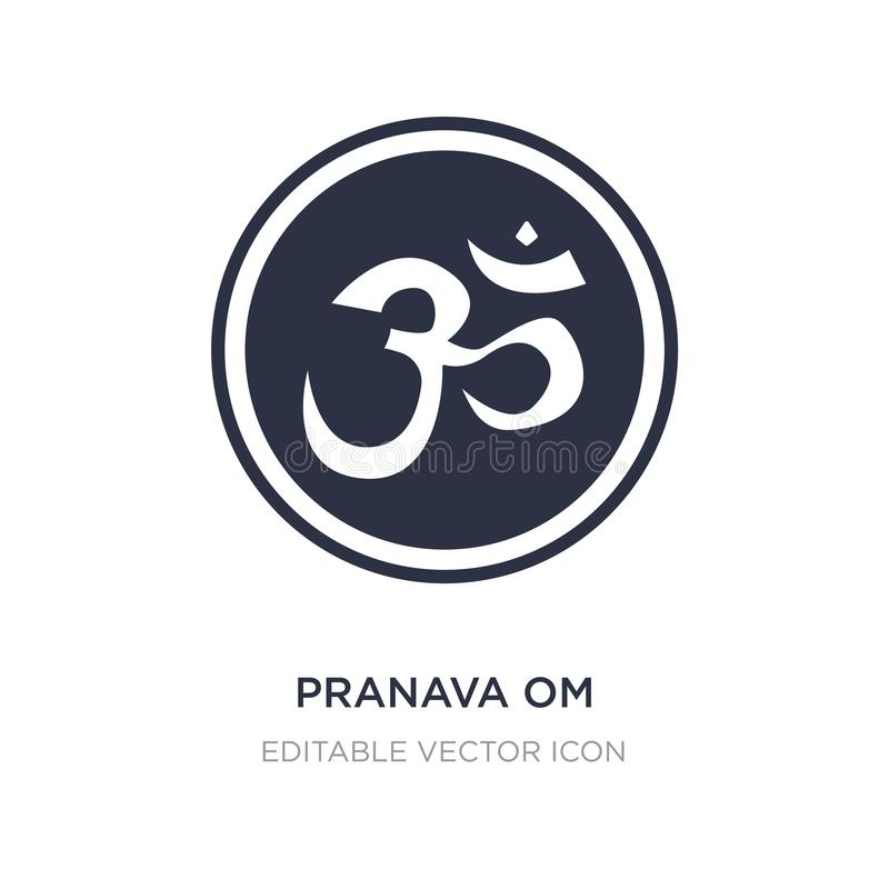 Pranava om icon on white background. Simple element illustration from Signs concept. Pranava om icon symbol design vector illustration