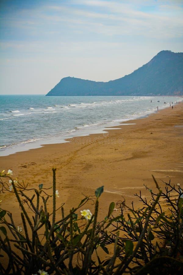 Pranburi Beach and Mountain royalty free stock photos