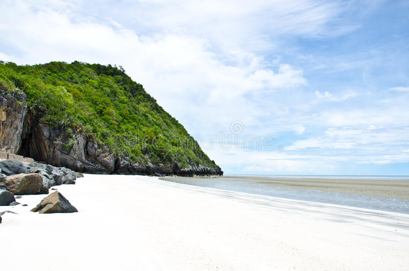 Pranburi beach, Thailand. Beaches ideal for relaxing in the summer stock images